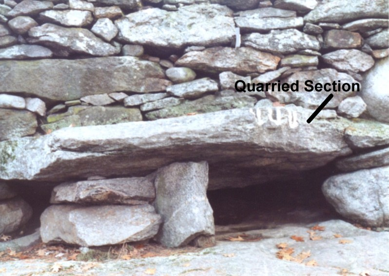 America's Stonehenge Tall Wall Quarrying Evidence